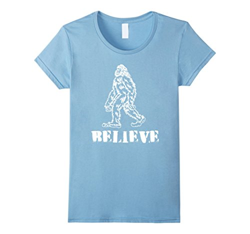 Infant Sasquatch Costume (Womens Bigfoot Believe T Shirt, Sasquatch Costume Shirt, Halloween Small Baby)