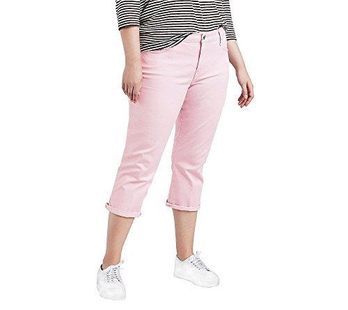Levi's Women's Plus Size Shaping Capri Jeans, Light Lilac Twill 36 (US 16)