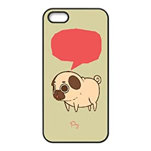 DIY PUGS Theme Phone Case Fit To iPhone 5,5S , A Good Gift To Your Family And Friends