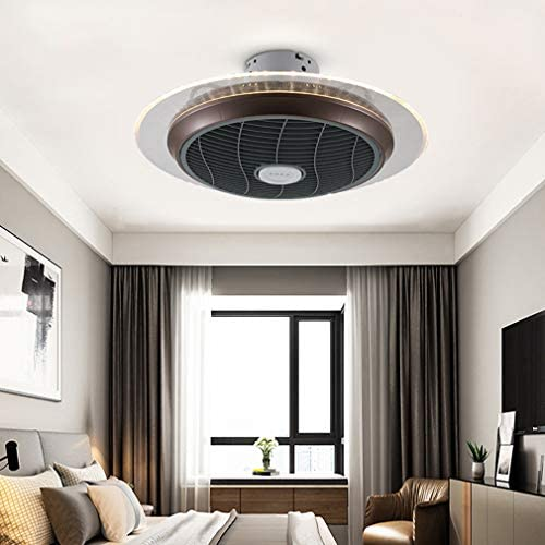 QHENS LED Ceiling Fan with Light Dimmable for Living Room Bedroom, Quiet Ceiling Fan with Lighting, Modern Fan Ceiling Lamp with Remote Control, Ceiling Lights Lamp, Ø55CM