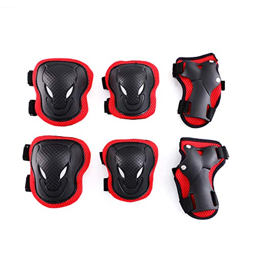Fabmore Kids Knee and Elbow Pads with Wrist Guards, Adjustable Protective Gear Set for Scooter Cycling Skateboard Rollerblade (Spiderman Knee Pads)