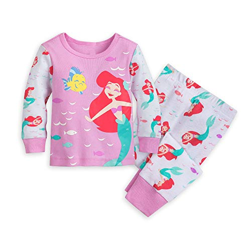 Disney Ariel and Flounder PJ PALS for Baby Size 12-18 MO Multi