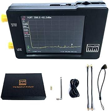 tinySA Handheld Tiny Spectrum Analyzer mit zwei Eing/ängen 2,8-Zoll-Touchscreen-Spektrumanalysatoren mit 100 KHz-350 MHz Eingangsfrequenzbereich