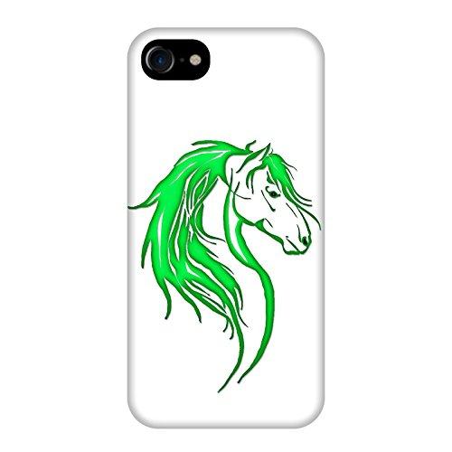 Coque Apple Iphone 7 - Tête cheval tribal Verte
