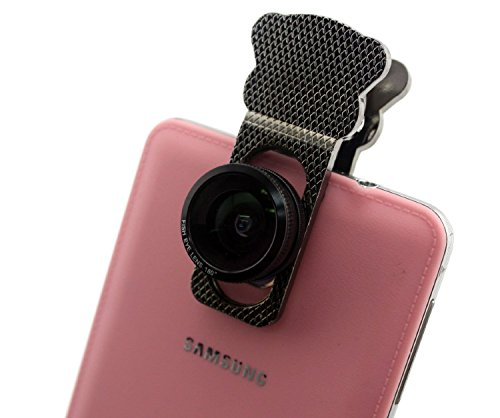 Universal 3-in-1 Smartphone and Tablet Camera Clip Lens (Black/Red) - 8