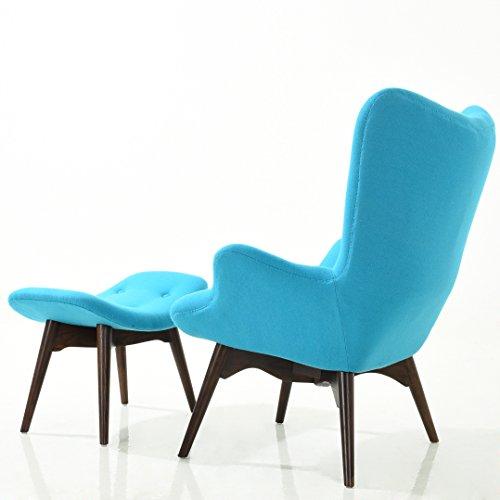 Phenomenal Poly Bark Em 136 Blu Auzzie Lounge Chair And Ottoman Blue Ibusinesslaw Wood Chair Design Ideas Ibusinesslaworg
