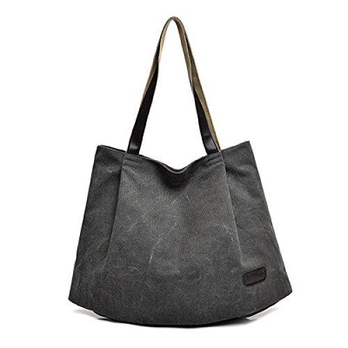 Vintage Frauen Hobo Top Griff Einkaufstasche Tote Casual Strand Multifunktions Taschen Für Damen Grey LZgr72V7