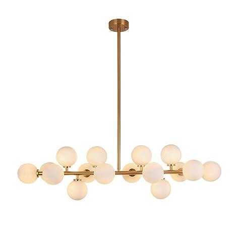 Lámpara de techo moderna lámpara de vidrio LED de ...