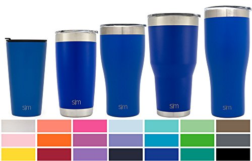 Simple Modern Pint 16oz Tumbler - Vacuum Insulated Double Wall 18/8 Stainless Steel Hydro Trazel Mug - Coffee Cup Flask - Twilight Thermos Stainless Steel Mug