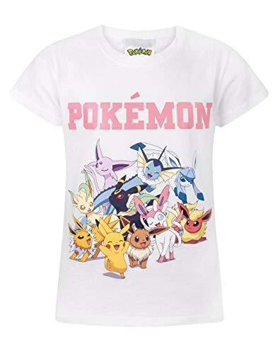 Vanilla Underground Pokemon Pikachu & Eevee Evolutions Girl's T-Shirt (9-10 Years) White