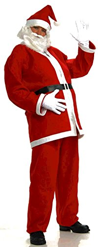 [Forum Novelties Men's Plus-Size Simply Santa Costume, Red/White, XX-Large] (Plus Size Simply Santa Costumes)