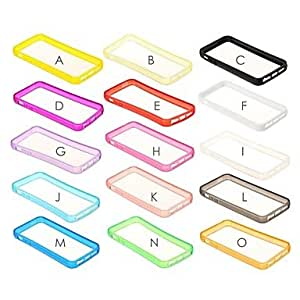 CECT STOCK Sólido Color del marco TPU suave de parachoques para el iPhone 5/5S , O