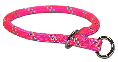 Leather Brothers Mountain Choke Collar Pink 24 inch
