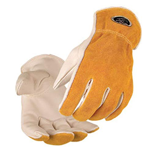 Black Stallion 97K Premium Grain/Split Cowhide Driver's Gloves, ()