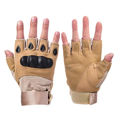 Military Tactical Hard Knuckle Half Finger/Fingerless Gloves Men's Sports Motorcycle Camping Hiking Climbing Driving Patrol Work