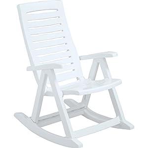 Rimax 10002 Gentle Rocking Chair, White