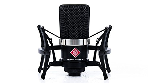 Neumann TLM 102 Black Cardioid Condenser Microphone Studio Set w/ Shock Mount MT by Neumann