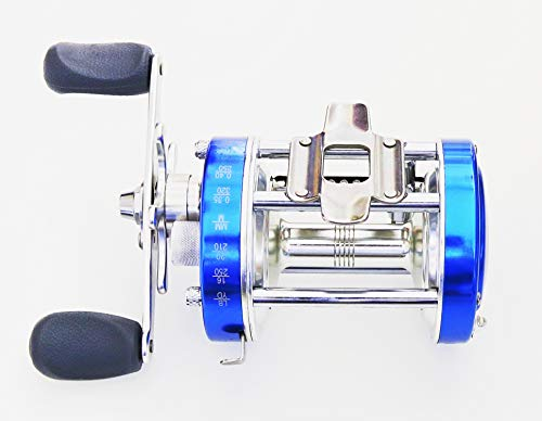 Mingyang CL60 Baitcasting Fishing Reels Fishing Tackle 2+1 BB Right Handed Gear Ratio 4.2:1 Blue,Conventional Casting Reel,Metal Body, for Catfish