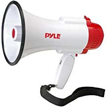 Pyle Megaphone Speaker PA Bullhorn with Built-in Siren - 30 Watt Voice Recorder & 800 Yard Range - Ideal for Football, Soccer, Baseball, Hockey, Basketball, Cheerleading Fans & Coaches - PMP35R