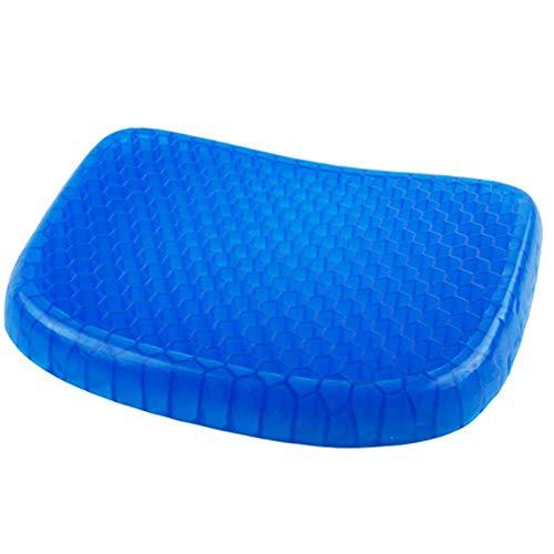 Qiongjie Cojin Asiento Oficina Coche Silla Ergonomico Cojin Summer Honeycomb Cold Gel Silla Oficina Sedentaria Silicona Cool Car 39X33X4Cm