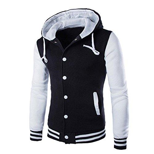 Cotton Coats for Men,Realdo Men's Warm Outwear Jacket Autumn Winter Slim Sweatshirt