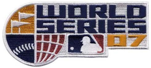 Official Mlb Baseball Patch (2007 Official World Series MLB Baseball Jersey Patch - Boston Red Sox over)