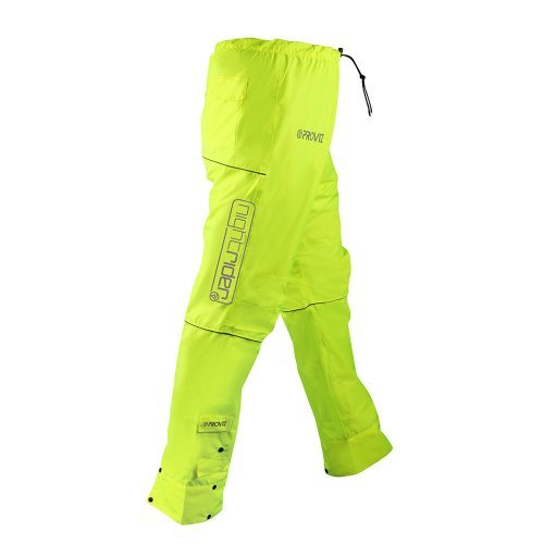 Proviz Nightrider Waterproof Trousers, Safety Yellow, womens 14