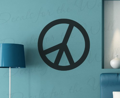Peace Sign Wall Decal - Vinyl Graphic Mural Hippie Retro 60s - Sticker Art Decor Large (1960s Peace Sign)