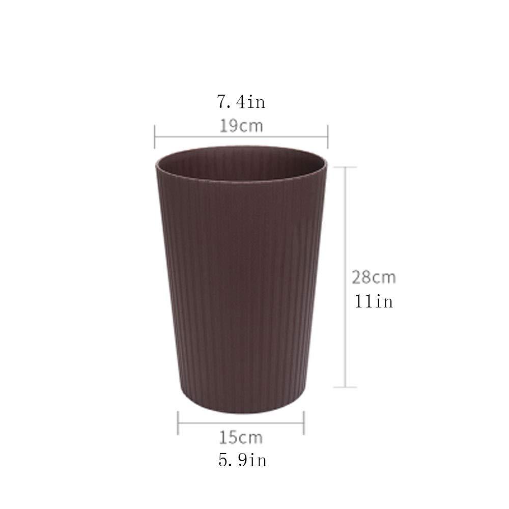 Farbe : Braun Aufbewahren & Ordnen HUACANG Vertikaler Schrubberkorb Einfacher Einfarbiger Altpapiereimer Schlafzimmer Küche Wohnzimmer Küche Kreativer Gerippter Papierkorb