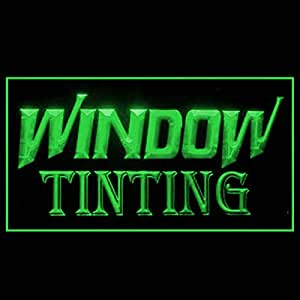Window Tinting Service Car Houseing Professional Reduce LED Light Sign 190203 Color Green