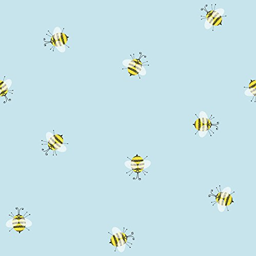 (JAM PAPER Industrial Size Bulk Wrapping Paper Rolls - Honey Bees - 1/4 Ream (520 Sq Ft) - Sold Individually)
