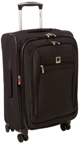 Delsey Luggage Helium Hyperlite Carry-On Expandable Spinner Trolley, Black, One Size