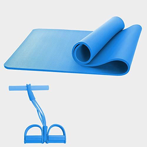 U 18580 cm WHoIppRmOrella Tapis de Yoga antidérapant pour Fitness, Pilates, Gym, Voyage, Yoga Pliable, léger 15 mm 10 mm
