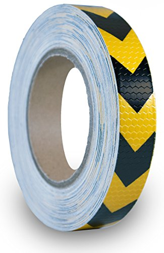 50 Rolls Safety Reflective Hazard Warning Arrow Tape - 1'' x 78 feet - Reflector Stickers Black And Yellow by Tread Experience