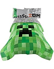 Mon Tex Mills Ltd Minecraft Twin/Double Comforter , Green