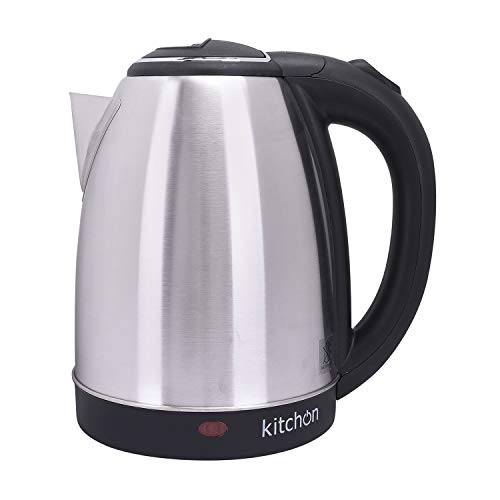 Kitchon KIKSS 1.8L 1500W Cordless Automatic Electric Kettle with Stainless Steel Lid - Black
