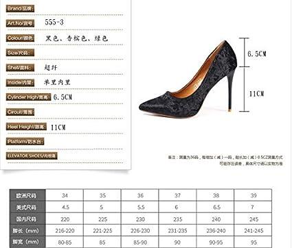 HBDLH Zapatos de Mujer/Spring Banquet Zapatos Tacones Puntiagudos 11Cm Super Tacones Altos Delgados La Boca Superficial Women S Singles Zapatos.