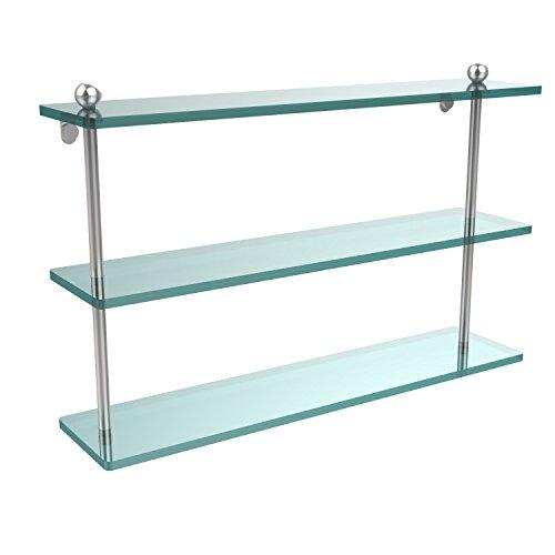 Glass Shelf Triple Allied Brass - Allied Brass PR-5/22-SCH 22