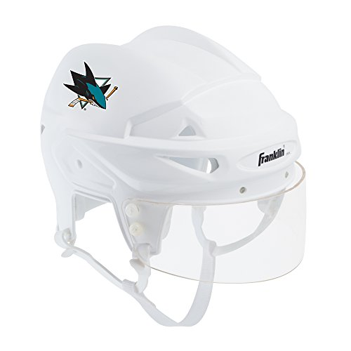 (Franklin Sports San Jose Sharks Mini Player Helmet - White Helmet w/Player Number Stickers - Great for Autographs - NHL Official Licensed Product)