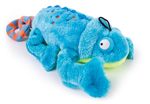 goDog Amphibianz Tough Plush Extra Large Dog Toy with Chew G