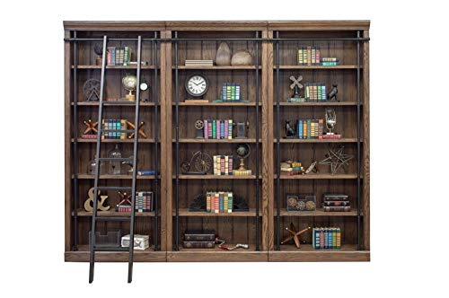 Martin Furniture Avondale 3 Bookcase Wall Oak, (Ladder Wall Library Bookcases With)