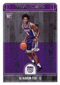 2017-18 Panini NBA Hoops Basketball #255 De'Aaron Fox Rookie Card - Sacramento (Fox Trading Cards)