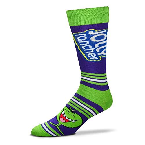 For Bare Feet Unisex Fbf Originals Jolly Rancer Sock, Jolly Rancher - Apple - Stripealicious, One Size