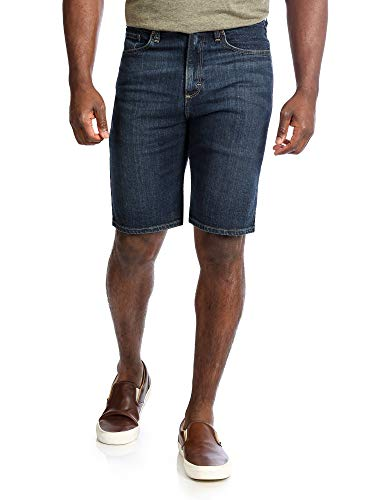 Wrangler Authentics Men's Big and Tall Big & Tall Comfort Flex Denim Short, Dark, 44