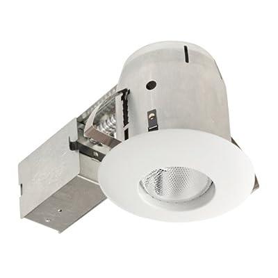 Globe Electric 9251001 5 inch Recessed Lighting Kit, White Finish, Flood Light