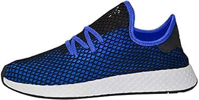 adidas Originals Deerupt Runner Shoe Men's Casual 6 Hi Res Blue-Black