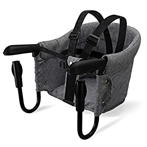 Portable Table High Chair, Folding Baby Hook On Seat for Home and Travel, Easy Clip-on Table high Chair. Fast Hook On…