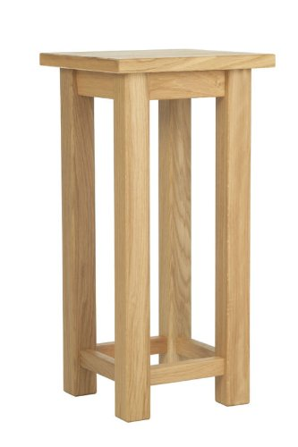 Nice Yabbyou Tall Slim Solid Oak Plant Hall Side Table 55cm High