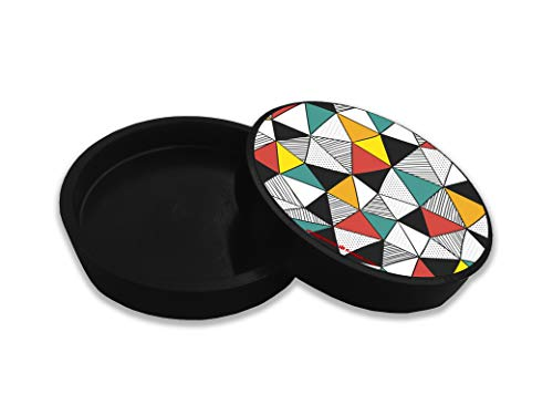 VPRINT QUALITY Plastic Round Tea Coaster Set of 6 for Office (Multicolour, 4x4inch)-Set of 6 Price & Reviews