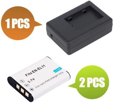 700 mAh BattPit trade; New 2x Digital Camera Battery 1x Charger Replacement for Nikon Coolpix S560